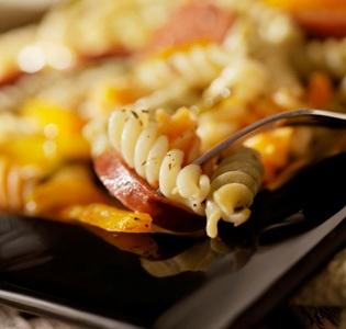 Apple-Walnut Pasta with Chicken Sausage