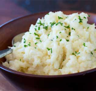 Cauliflower Mash (faux potatoes)