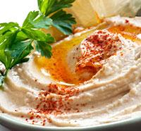 Egg Whites Stuffed with Hummus