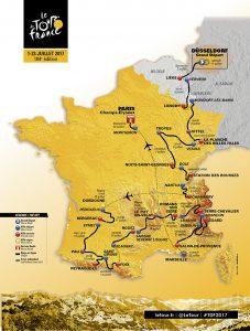Tour de France Map Route