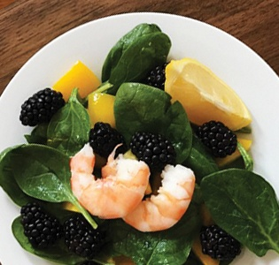 Blackberry Shrimp Salad
