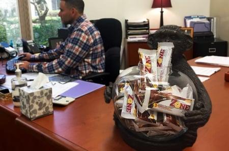 Zone Chocolate Fudge Bars at Work