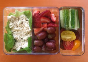 Chicken Salad and Veggies