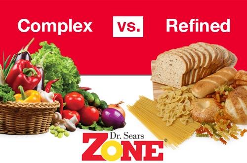 Zone Complex Carbs vs. Refined at a Glance