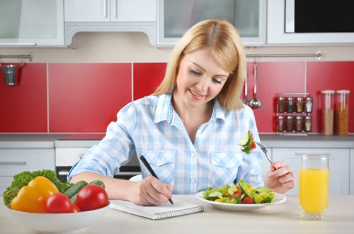 Write down meals to better stay in the Zone