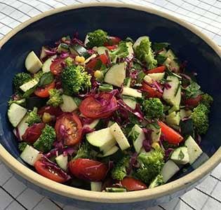 Zone Zucchini Salad