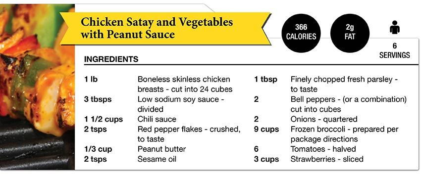 Zone Diet Chicken Satay
