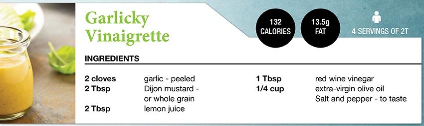 Zone Diet Garlicky Vinaigrette