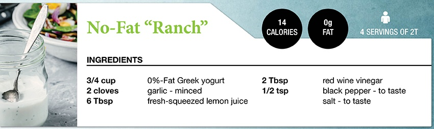 Zone Diet No-Fat Ranch Dressing