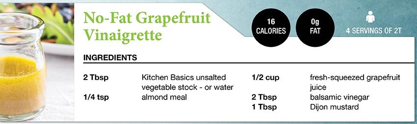 Zone Diet No-Fat Grapefruit Vineaigrette