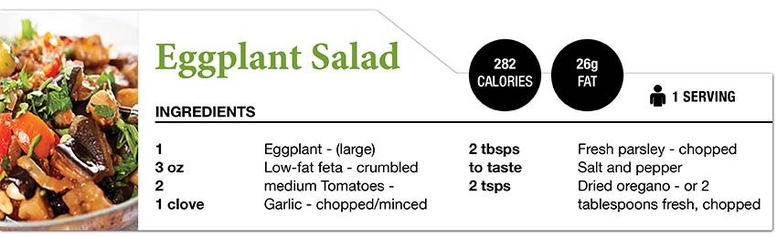 Zone Diet Eggplant Salad