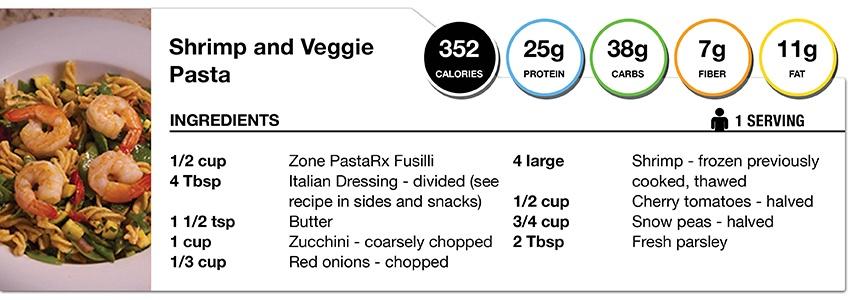 Shrimp and Veggie Pasta