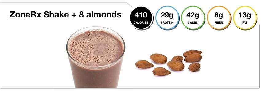 A Day in the Zone - Shake and Almonds