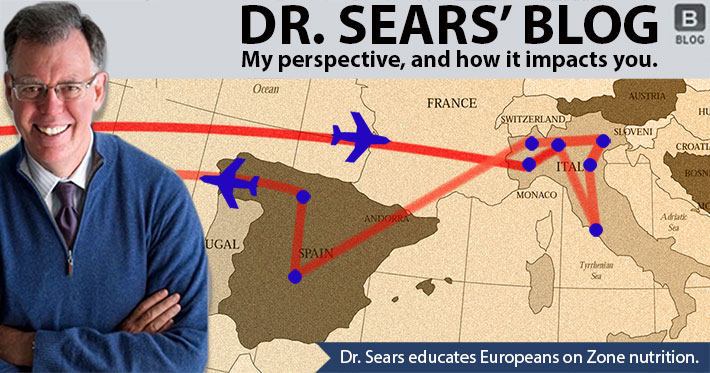 Dr. Sears Educates Europeans on Zone Nutrition
