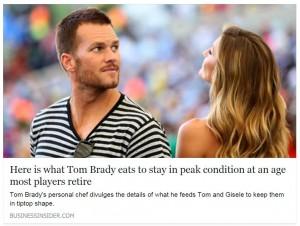 Tom Brady in Business Insider