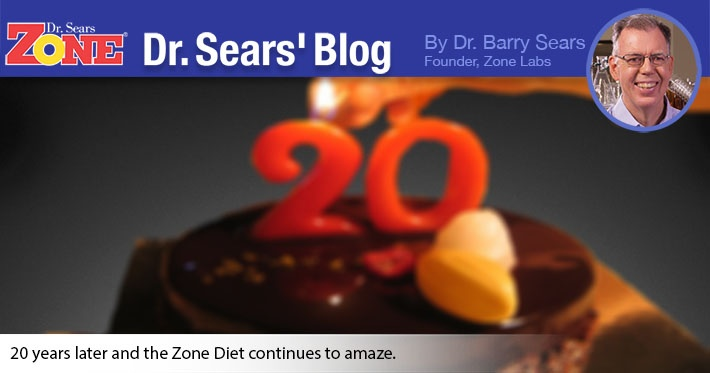 Dr. Sears' Blog: What's New About The Zone Diet After 20 Years?