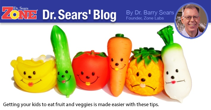 Dr. Sears' Blog: Getting Kids To Eat More Fruits And Vegetables