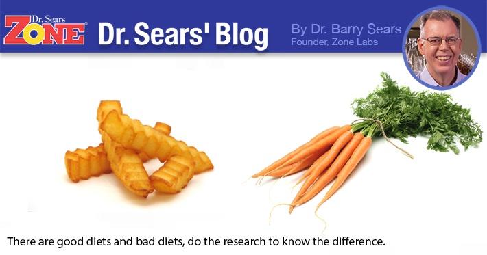 Dr. Sears' Blog: Good Diet, Bad Study