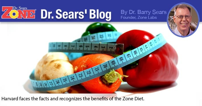 Dr. Sears' Blog: Harvard Moving Closer to the Zone Diet After 20 Years