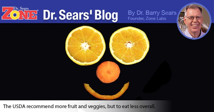 """Dr. Sears' Blog: The New """"Eat Less"""" USDA Food Pyramid"""
